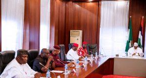 Buhari with Sen. Ekweremadu and South-East Governors
