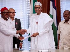 President Buhari receives in audience select Leaders from South East in State House