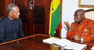 Minister of Foreign Affairs Geoffrey Onyeama and President of Ghana Nana Akufo-Addo