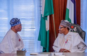 LADOL Group Chair, Oladipo Jadesimi, with President Buhari