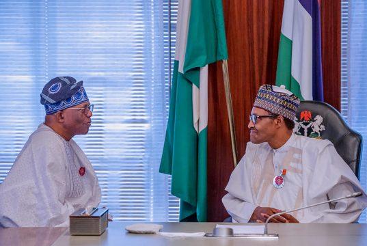 LADOL Group Chair, Oladipo Jadesimi, with President Buhari