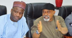Ngige at a meeting with NLC