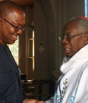 Peter Obi and Cardinal Francis Arinze