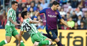 La Liga match between FC Barcelona and Real Betis Balompie at Camp Nou