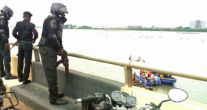 Scene where the FRCN man jumped into the lagoon