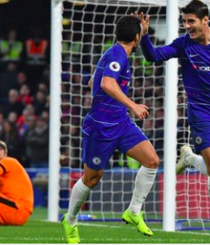Morata has scored in back-to-back league games for Chelsea for the first time since November 2017
