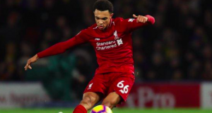 Trent Alexander-Arnold scored his first goal of the season for Liverpool with a stunning free-kick