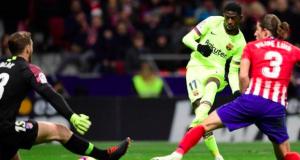 Ousmane Dembele scored his seventh goal of the season for Barcelona