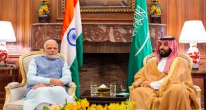 Saudi Arabia's Crown Prince Mohammed bin Salman with India's Prime Minister Narendra Modi in Buenos Aires, Argentina