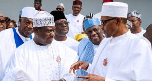 Sen. George Akume and President Buhari