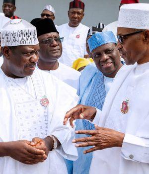 Sen. George Akume and President Buhari