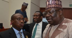 Sen. Ahmed Lawan and Maikanti Baru of NNPC