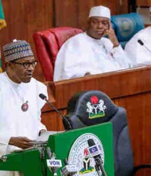 President Buhari presenting the 2019- Appropriation Bill