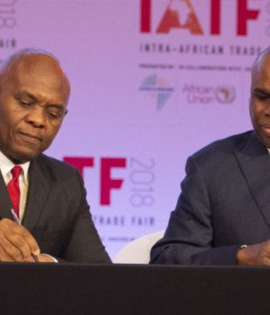 Tony Elumelu of Heirs Holdings and Dr. Benedict Oramah of Afrexim Bank