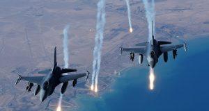 Fighter jets firing Boko Haram fighters