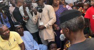 Prof. Yemi Osinbajo during the Door-to-Door campaign