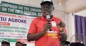 Oyo REC, Barrister Mutiu Agboke