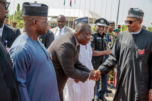 President Buhari with Gov. Ifeanyi Ugwuanyi of Enugu