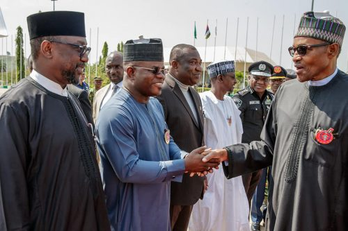 President Buhari with Gov. Yahyah Bello of Kogi