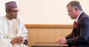 President Buhari and Jordan's King Abdullah II bin Al-Hussein