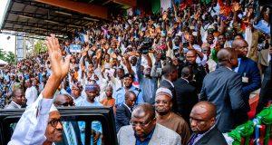 President Buhari at a campaign rally