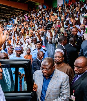 President Buhari at a campaign rally
