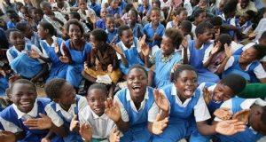 School-girls as cannon folders