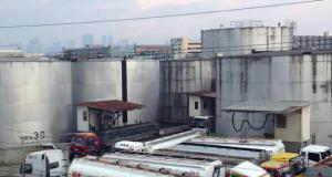 Oil loading depot