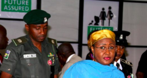 Sani Baba-Inna with Aisha Buhari