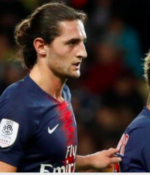 Rabiot (left) is a team-mate of former Barcelona forward Neymar