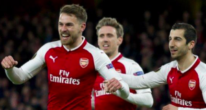 Aaron Ramsey, left, has won three FA Cups during his time at Arsenal