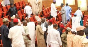 Senate turns rowdy over election of senate leadership