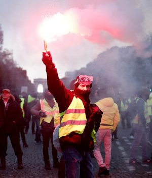 Yellow vests protesters in Paris over fuel tax raise