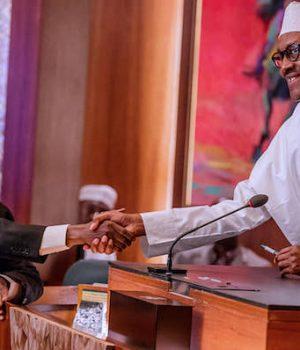 Ibrahim Tanko Mohammed and President Buhari
