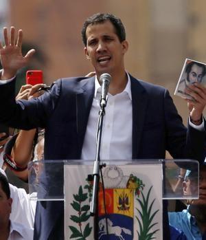Juan Guaido, declared winner in Venezuela poll