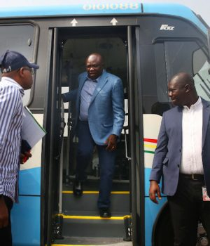 Gov. Ambode in the new Lagos Bus