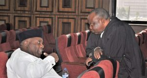 Doyin Okupe with one of his counsels