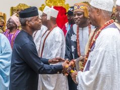Osinbajo with Ekiti monarchs