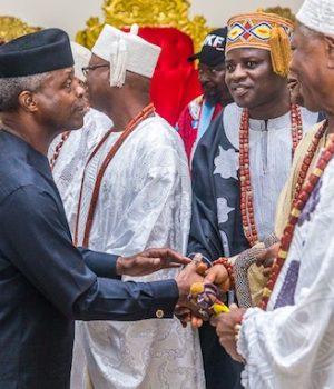 Osinbajo with Ekiti monarchs