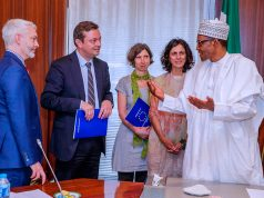 Members of EU Election monitoring group with President Buhari