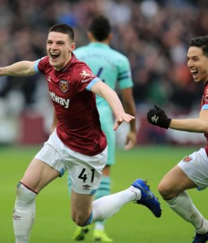 Rice goal dents Arsenal's top four ambition