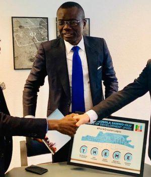 Olusegun Andrew Paul, Executive Vice Chairman, Blackpace Africa, Sanwo-Olu, and Ambassador Ralph Friendlander of Swiss Agency For Development Cooperation