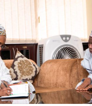 Zainab Ahmed, Finance Minister and Gov. Abdullahi Ganduje of Kano