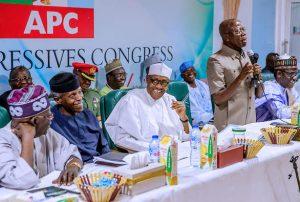 Tinubu, Osinbajo, Buhari and Oshiomhole