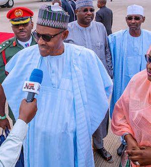 Buhari and Aisha return to Abuja
