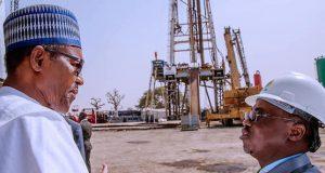 President Buhari and NNPC GMD, Dr. Maikanti Baru