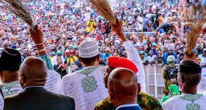 Buhari during his campaign in Ondo