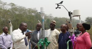 FUTA VC, Prof. Fuwape commissions Automatic Weather Station