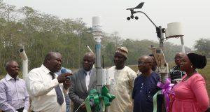 FUTA VC, Prof. Fuwape commissions Automatic Weather Station