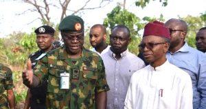 Gov. El-Rufai and Army GOC visits Kajuru